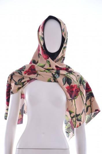 Dolce & Gabbana Women Roses Printed Hiyab - FN062R FSRFI