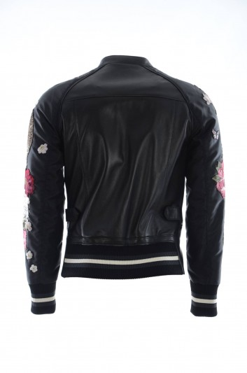 Dolce & Gabbana Men Leather Jacket - G9JV3Z FUL89