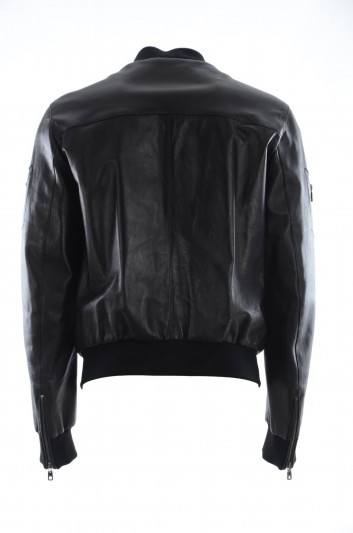 Dolce & Gabbana Men Leather Jacket - G9KI1L FULYM
