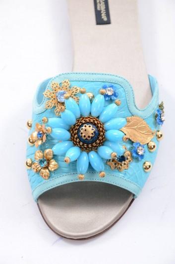 Dolce & Gabbana Women Jewel Flat Slides - CQ0022 A2I67