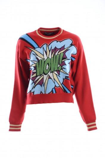 Dolce & Gabbana Women Cashmere Crewneck Pullover - FX364T JAMRL