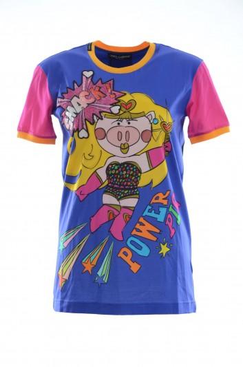 Dolce & Gabbana Camiseta Manga Corta Mujer - F8K74Z HH7JB