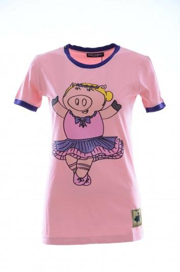 Dolce & Gabbana Camiseta Manga Corta Mujer - F8H32T G7RDL