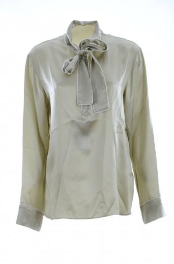 Dolce & Gabbana Blusa Seda Lazo Mujer - F72K0Z GD73S