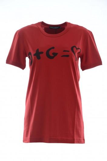 Dolce & Gabbana Camiseta Manga Corta Mujer - F8J32T G7NHI