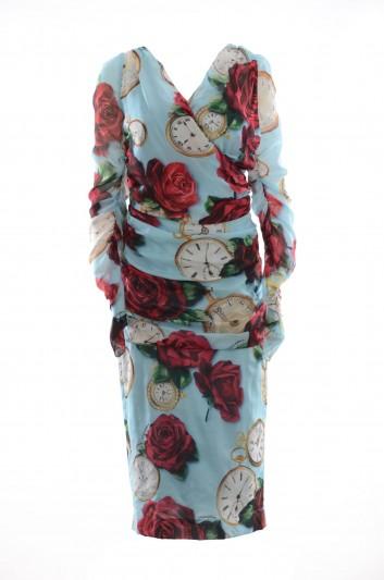 Dolce & Gabbana Women Silk Long Dress - I644MW FSAU2