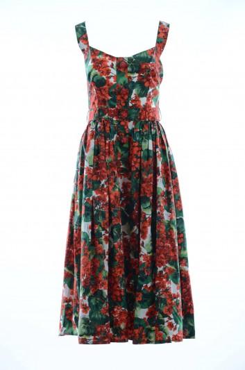 Dolce & Gabbana Vestido  Largo Flores Tirantes Cruzados Mujer - F6C8JZ HS5CL