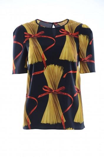 Dolce & Gabbana Top Seda Estampado Mujer - F7U27T FSASJ