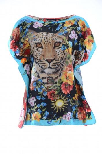 Dolce & Gabbana Top Seda Estampado Mujer - F71R0T GDI50