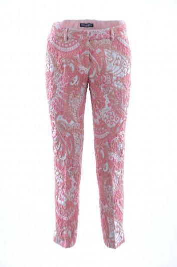 Dolce & Gabbana Pantalón Bordado Mujer - FTAGNT HJMFW