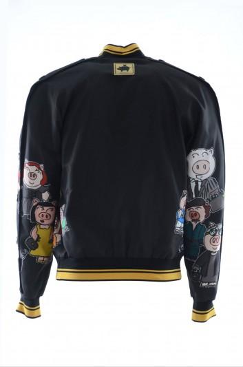 Dolce & Gabbana Chaqueta Estampada Familia Cerditos Hombre - G9MQ0T HHMCT