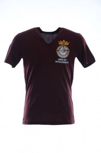Dolce & Gabbana Men Short Sleeves V Neck T-Shirt - G8JF5T FH72T