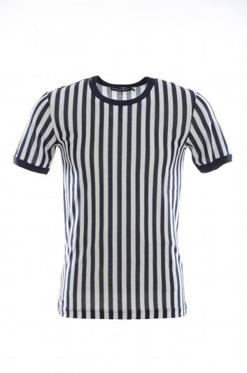 Dolce & Gabbana Men Short Sleeves Striped T-shirt - G8HI7T G7SIO