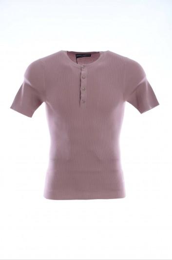 Dolce & Gabbana Camiseta Manga Corta Seda Hombre - GN532K F63A6