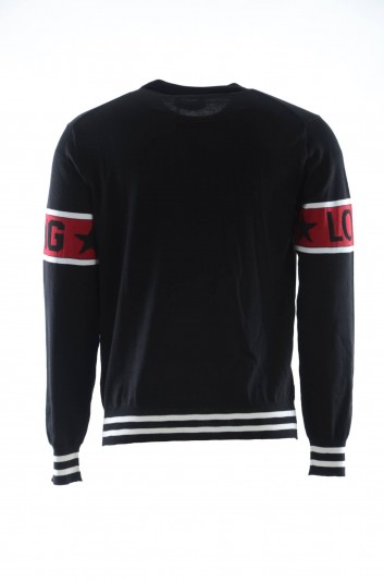 Dolce & Gabbana Men Wool Panda Crewneck Pullover - GX397T JAVLW