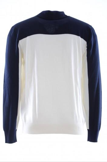 Dolce & Gabana Men Wool Bicolor Henley Pullover - GR404K F85EG