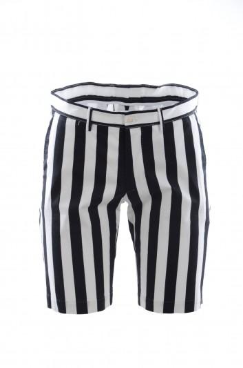Dolce & Gabbana Men Striped Bermuda Trousers - GY6GMT FSFD7