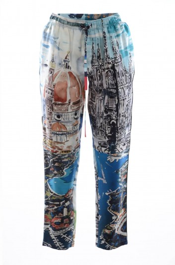 Dolce & Gabbana Men Silk Printed Trousers - GYW6HT GEC51