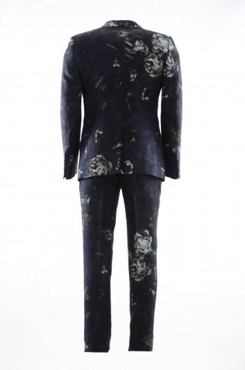 Dolce & Gabbana Traje Flores 1 Botón Hombre - GK97MT HSMSB