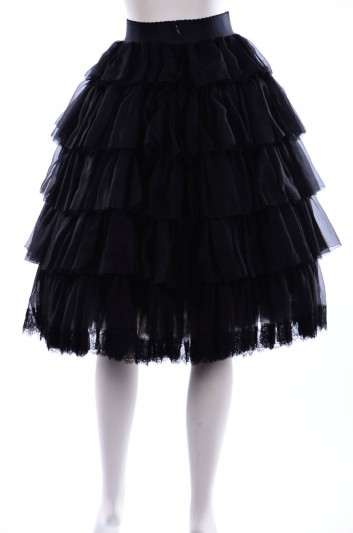 Dolce & Gabbana Women Ruffles Midi Skirt - F4AVST FU1KK