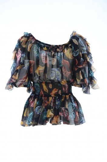Dolce & Gabbana Women Shells Silk Top - F71O8T HS1R1