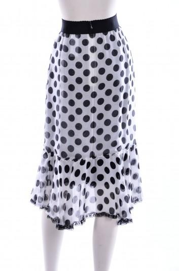Dolce & Gabbana Women Dot Print Midi Skirt - F4AVET FS145