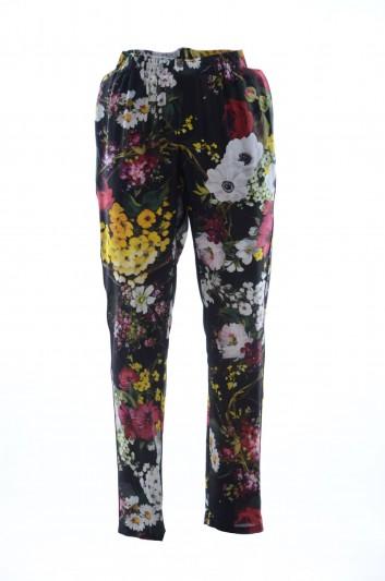 Dolce & Gabbana Pantalón Seda Flores Hombre - GY15HT HS1NU