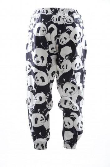 Dolce & Gabbana Pantalón Seda Pandas Hombre - IYBJHT HS11P