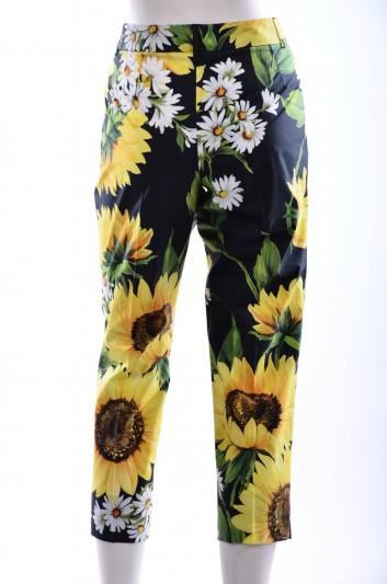 Dolce & Gabbana Women Wallflowers Print Trouser - FTAHGT FS53X