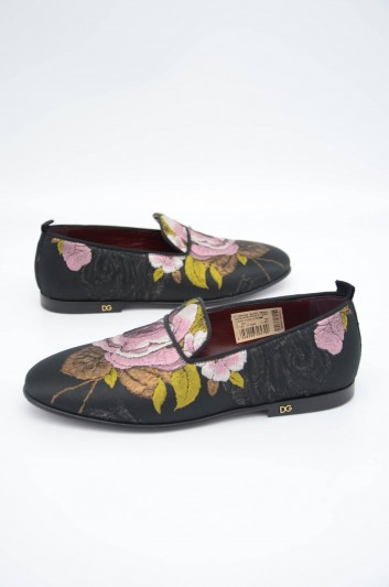 Dolce & Gabbana Men Embroidered Loafers - CP0142 AJ344