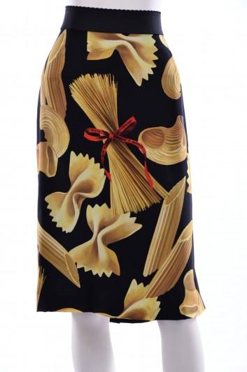 Dolce & Gabbana Women Pasta Print Midi Skirt - F4AG7T HS1L6