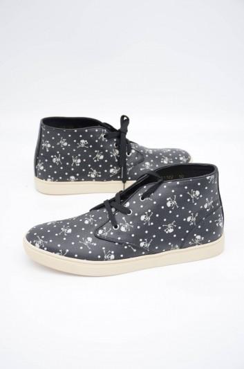 Dolce & Gabbana Men Skulls High-Top Sneakers - CS1322 AL009