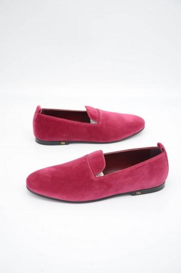 Dolce & Gabbana Men Velvet Slippers - A50312 A6808