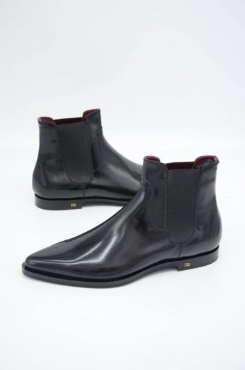 Dolce & Gabbana Men Leather Chelsea Boots - A60216 A1203