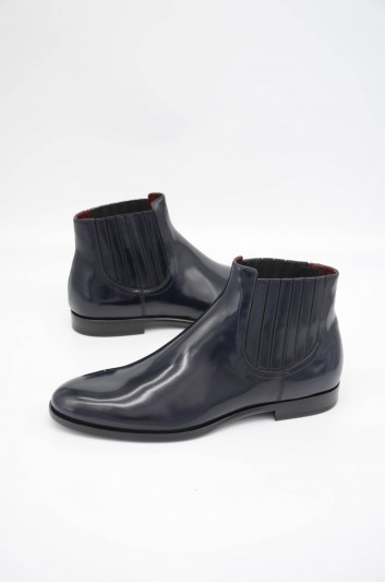 Dolce & Gabbana Men Leather Chelsea Boots - A60208 A1203