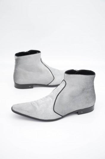Dolce & Gabbana Men Zipped Short Boots - A60236 AA616