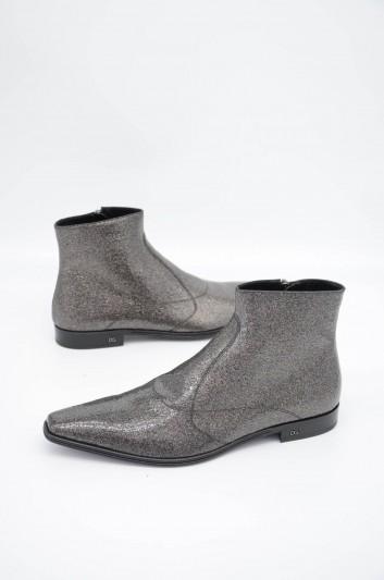 Dolce & Gabbana Men Zipped Short Boots - A60232 AA579