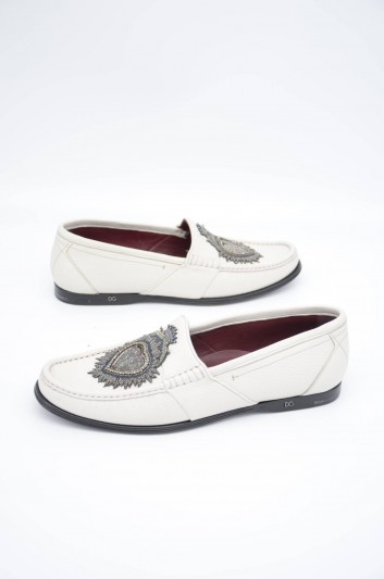 Dolce & Gabbana Men Heart Leather Loafers - A30119 AA543