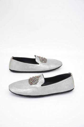 Dolce & Gabbana Men Crown Leather Loafers - A50280 AA400