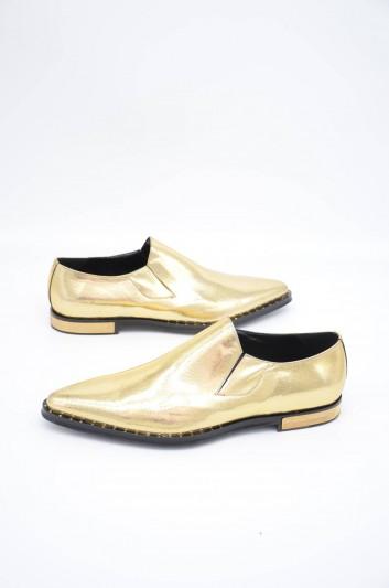 Dolce & Gabbana Men Gold Slippers - A50321 AA574