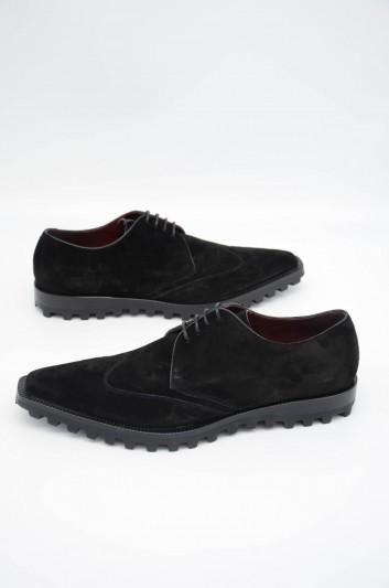 Dolce & Gabbana Men Suede Derby Shoes - A10475 AA415