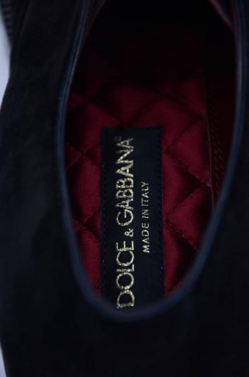 Dolce & Gabbana Zapatos Vestir Cordones Terciopelo Hombre - A10475 AA415