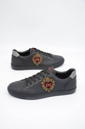 Dolce & Gabbana Men Embroidered Low-top Sneakers - CS1676 B5339