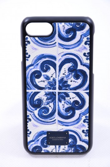 Dolce & Gabbana Funda Iphone 7/8 Estampado Maiolica Hombre - BP2235 AI363