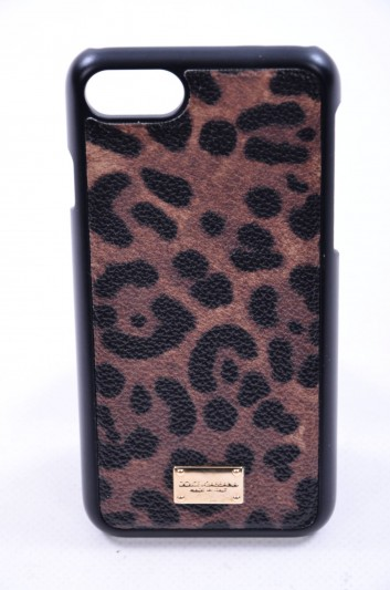 Dolce & Gabbana Funda Iphone 7/8 Estampado Leopardo Mujer - BI2123 A7158