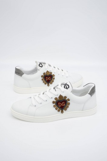 Dolce & Gabbana Men Embroidered Low-top Sneakers - CS1640 B5545