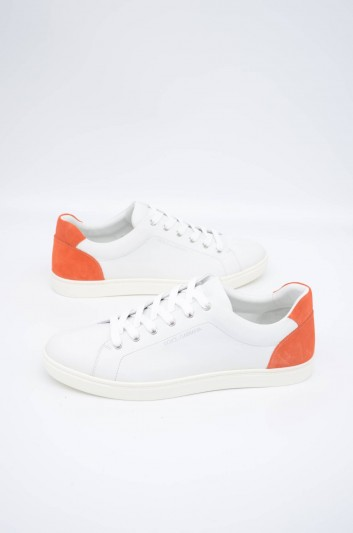 Dolce & Gabbana Men Leather Low-Top Sneakers - CS1640 B5274