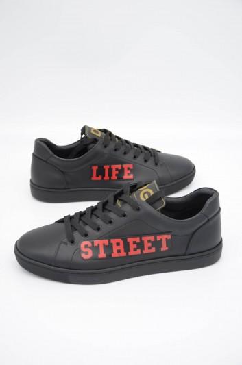 Dolce & Gabbana Men Leather Low-Top Sneakers - CS1640 B5708