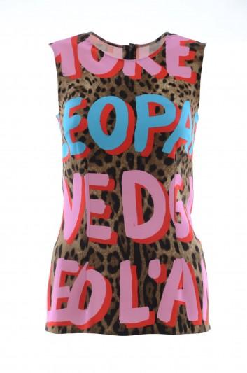 Dolce & Gabbana Women Printed Sleevless Top - F7T89T FSRKU