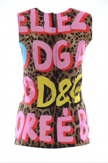 Dolce & Gabbana Top Estampado Sin Mangas Mujer - F7T89T FSRKU